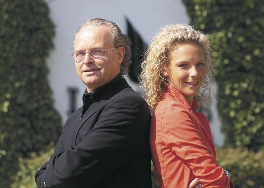 Luc Lerouge samen met dochter Stephany.