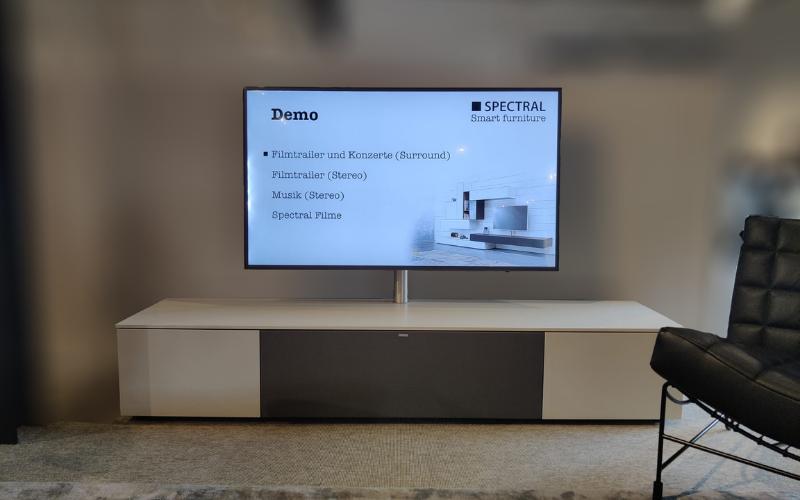 Tv- meubel Spectral incl. geïntegreerd soundsysteem (excl. tv)